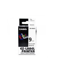 CASIO XR-9WE1 (Negro sobre Blanco) 9mm