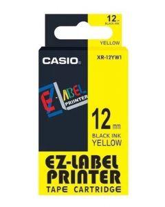 CASIO XR-12YW1 (Negro sobre Amarillo) 12mm